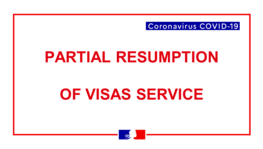 Partial resumption of visas service