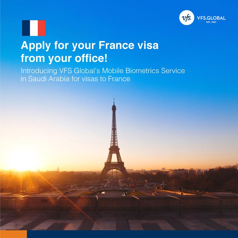 Apply for your France visa from your office - La France en Arabie